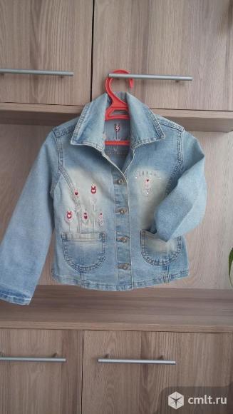 Стильный джинсовый  жакет. Фото 1.