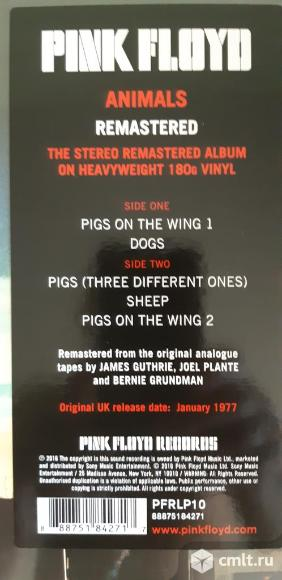 LP Pink Floyd Animals. Фото 3.