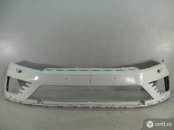 Бампер передний под омыв и парк VW TOUAREG 15- б/у 7P6807221FGRU 3*. Фото 1.