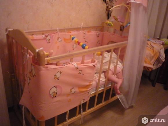 Балдахин и бортики для детской кроватки. Фото 1.