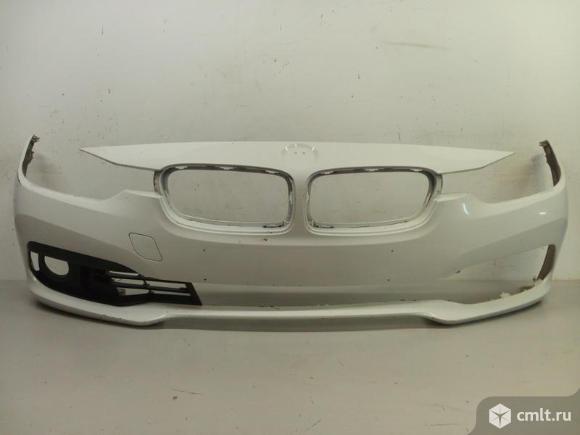 Бампер передний + накладка птф BMW 3 F30 / F31 15- б/у 51117445093 51117396878 4*. Фото 1.