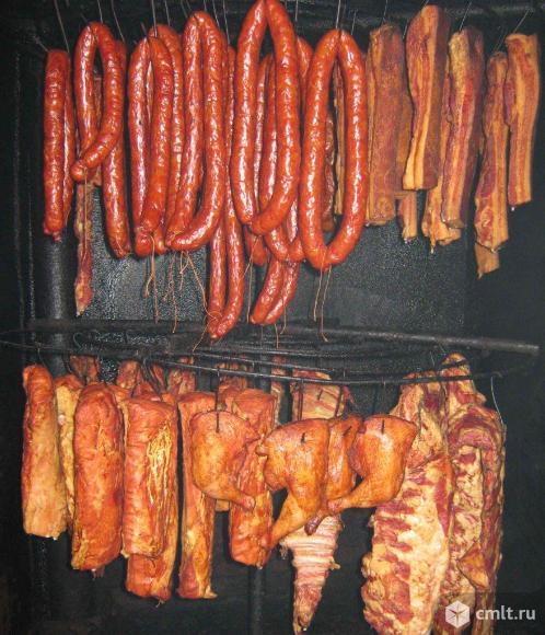 Горячее копчение мясной продукции. Фото 1.