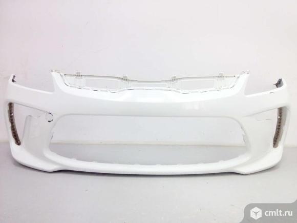 Бампер передний KIA RIO 17- б/у 86511H0000 4.5* цвет белый. Фото 1.