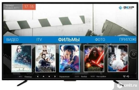 """Как новый, гарантия SMART, Wi-Fi. 39"""" (99 см) Телевизор LED DEXP H39D8000Q. Фото 1."""