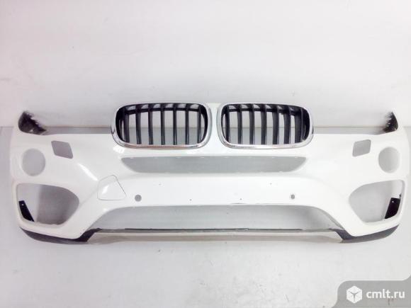 Бампер передний под парк и омыв + спойлер + решетки радиатора BMW X6 F16 14- б/у 51117422898 5111731. Фото 1.