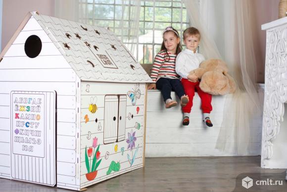 Детский игровой домик раскраска Bibalina