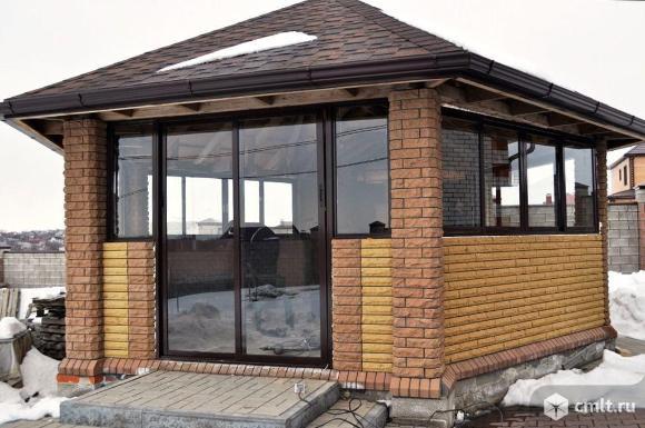 Балкон аккуратно алюминиевыми, ПВХ рамами застеклим.. Фото 19.