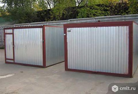 Металлический гараж Автолюбитель-2А. Фото 1.