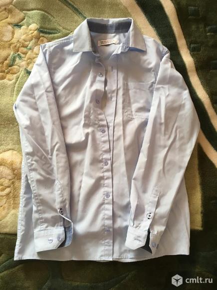 Детские школьные рубашки для мальчика: 1) с запонками; 2) НаследникЪ. Фото 2.
