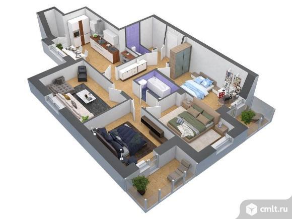 4-комнатная квартира 107,6 кв.м. Фото 1.