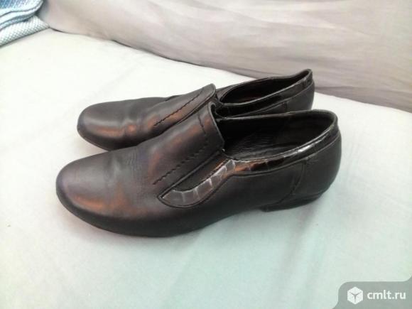 Ботинки кожаные. Фото 1.
