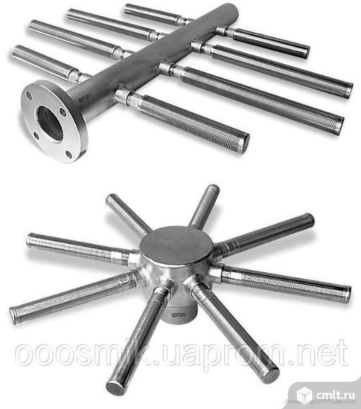 Нижние и верхние распределительные (НРУ, ВРУ) устройства для фильтров ФИПа, ФОВ, колпачки щелевые. Фото 1.