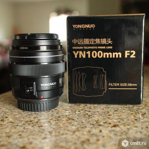 Объектив Yongnuo YN 100mm F2 для Canon. Фото 1.