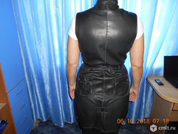 Натуральный кожаный сарафан