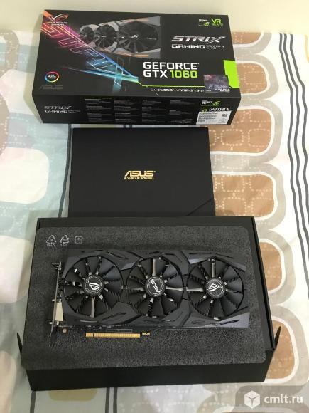 Игровая видеокарта asus GeForce GTX 1060,ROG, 6Gb. Фото 1.