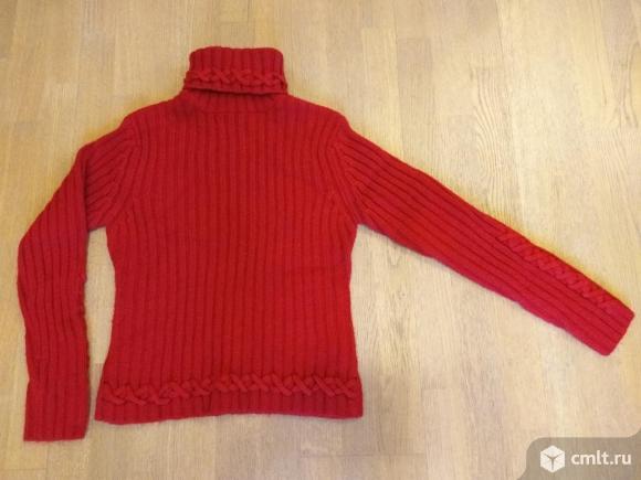 Очень качественный шерстяной свитер, р-р 44-46. Фото 1.