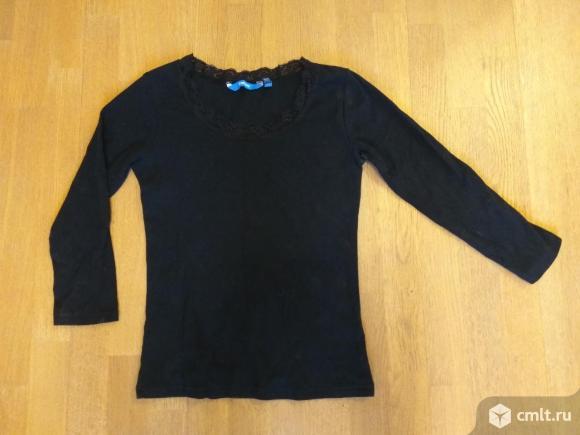 Черная кофточка, длинный рукав, р-р 46