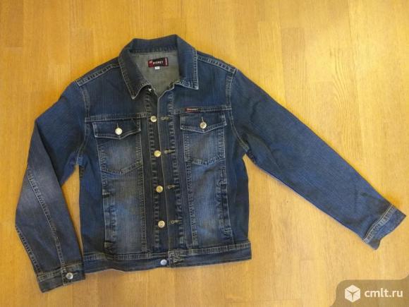 Куртка джинсовая, хлопок, р-р L 44-46 рост 150-165. Фото 1.
