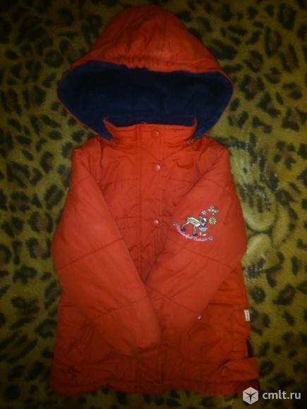 Куртка демисезонная р. 110-116 см на флисе и одинарный синтепон