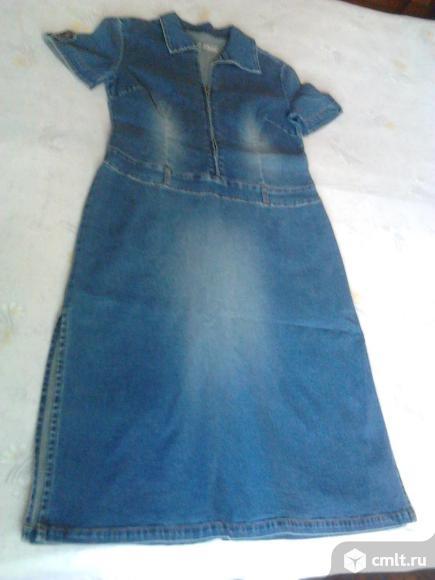 Платье джинсовое женское, р. 46-48, новое, Германия, 900 р. Фото 1.