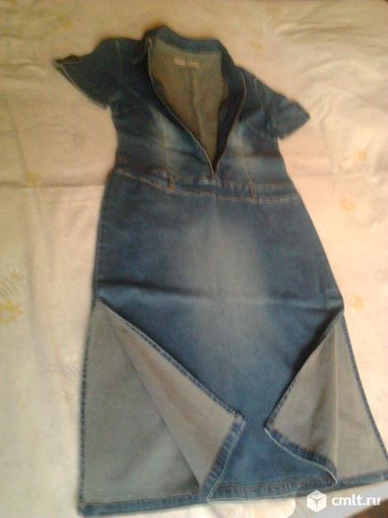 Платье джинсовое женское, р. 46-48, новое, Германия, 900 р. Фото 3.