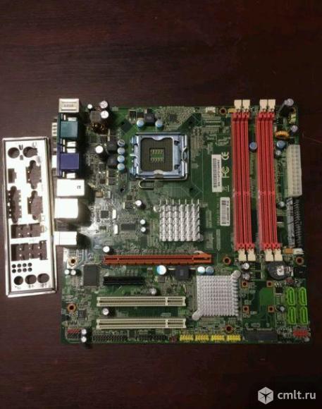 775 плата KWG43-D3 4 слота DDR3. Фото 1.