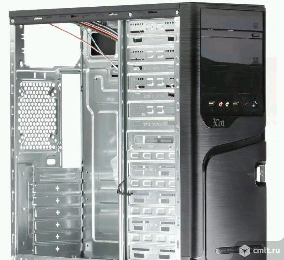 Корпус новый 3Cott 4006, ATX, черный, без бп. Фото 1.