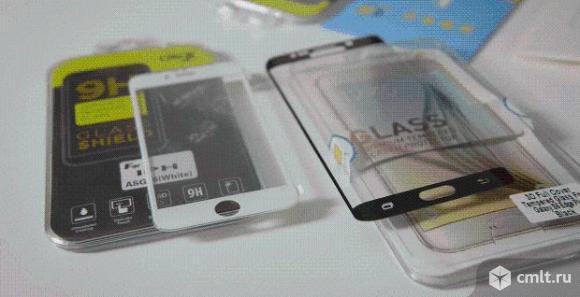 Защитные стекла 5D для телефонов для Xiaomi,iPhone. Фото 3.