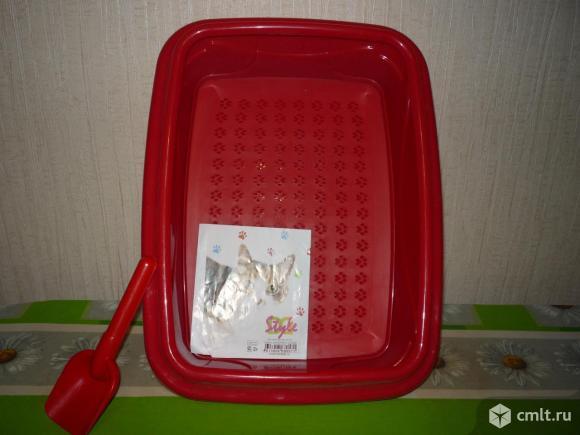 Туалет кошачий оригинальный стильный новый. Фото 1.