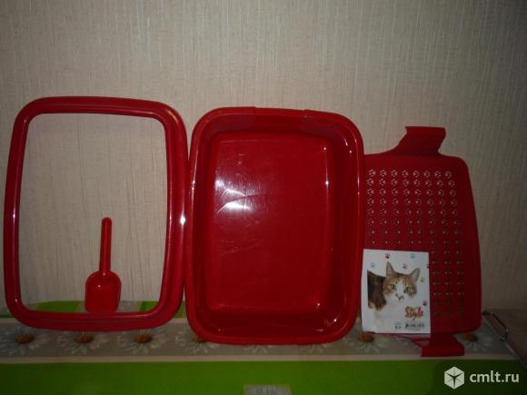 Туалет кошачий оригинальный стильный новый. Фото 3.