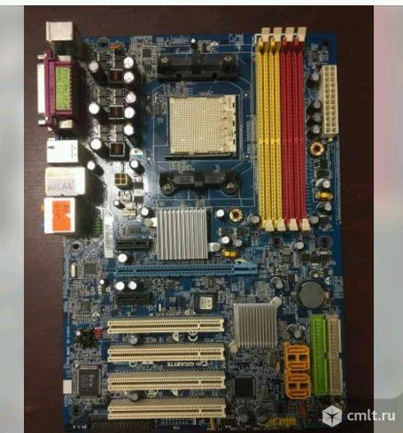 AM2 плата gigabyte GA-M55plus-S3G. Фото 1.