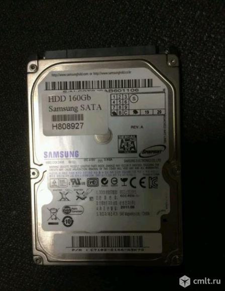"""Жесткий диск 2.5"""" SATA 160Gb SAMSUNG на ноутбук. Фото 1."""