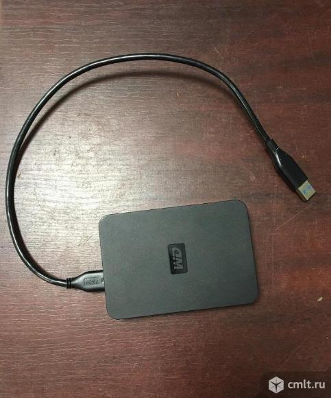 Внешний жёсткий диск USB3 500G WD Elements SE. Фото 1.