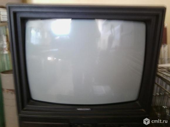 Телевизор кинескопный цв. Горизонт. Фото 1.