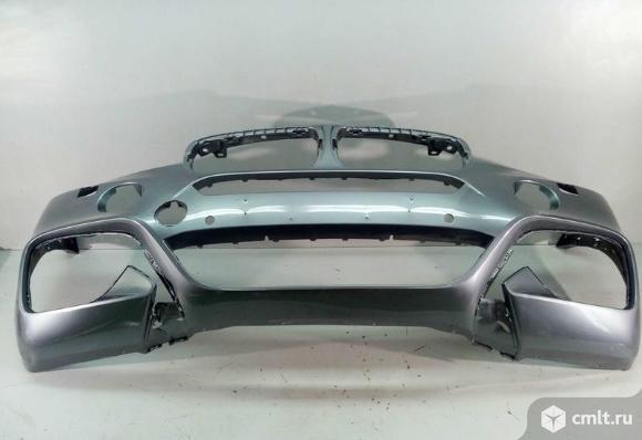 Бампер передний под омыв и парк BMW X6 F16 м-пакет 14- б/у 51118066902 4*. Фото 1.