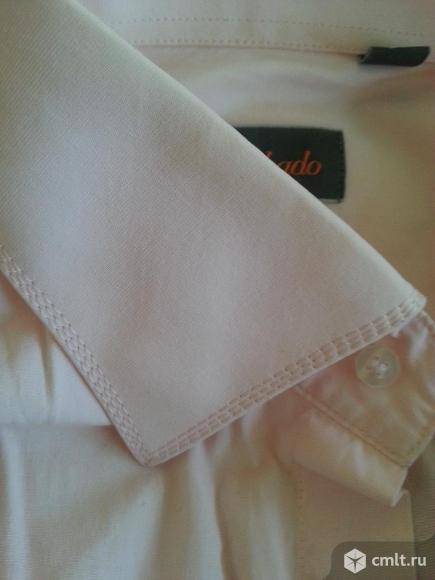 Рубашка итальянская светло-розовая с галстуком. Фото 1.