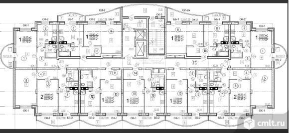 1-комнатная квартира 41,72 кв.м. Фото 3.
