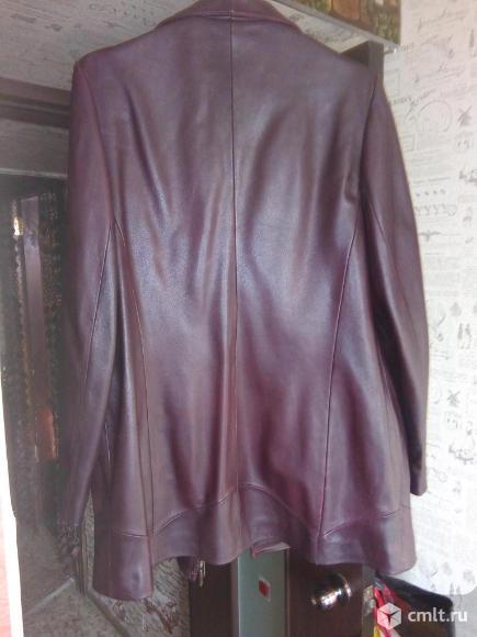 Пиджак женский б.у. Отличное состояние. Натуральная кожа.. Фото 3.