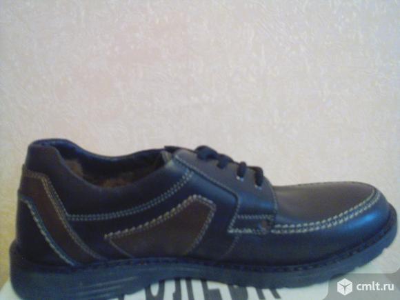 Продам мужские, кожаные зимние ботинки. Фото 1.