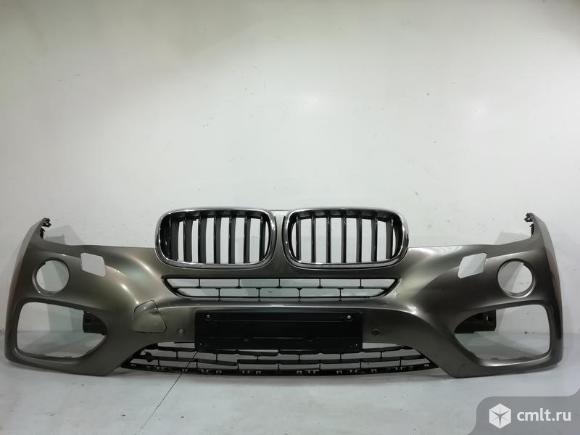 Бампер передний + решетки радиатора + датчик BMW X6 F16 14- б/у 51117422898  51137373689 51137373690. Фото 1.