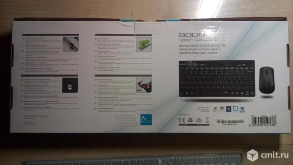 Беспроводная клавиатура и мышь новые.. Фото 3.
