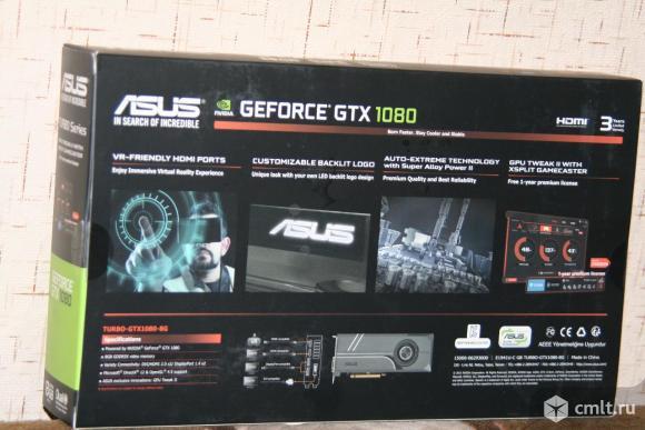 Видеокарта Asus Turbo-GTX1080 8Gb, новая, гарантия 2 года,  продаю.