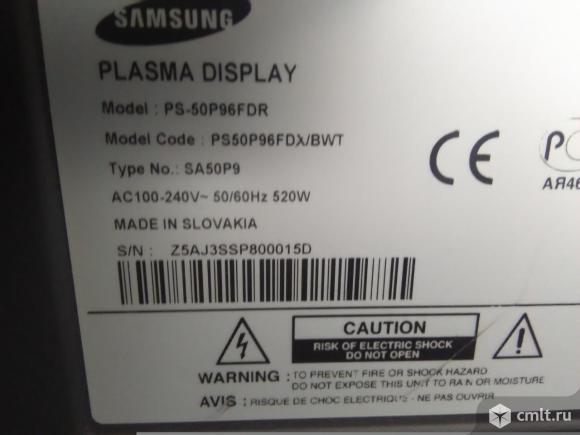 SAMSUNG plasma PS-50P96FDR. Фото 4.