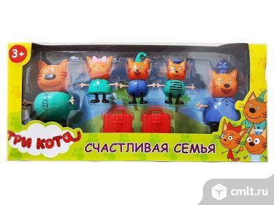 Набор Три кота с чемоданами 5 фигурок. Фото 1.