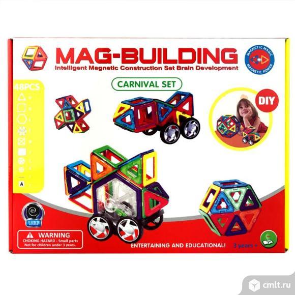Магнитный конструктор Mag-Building 48 деталей. Фото 1.