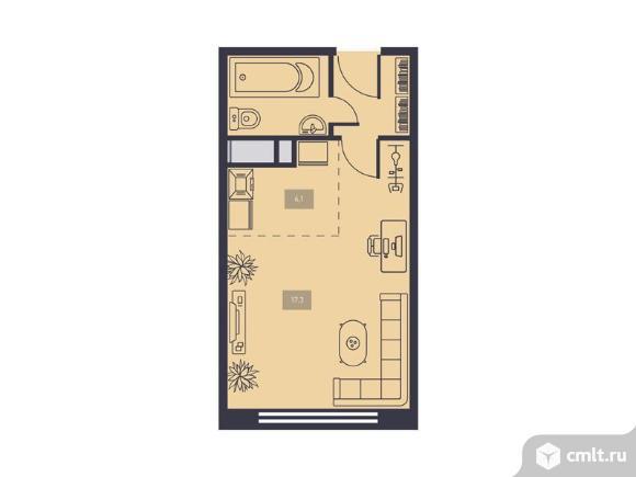 1-комнатная квартира 30,9 кв.м. Фото 1.