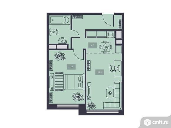 2-комнатная квартира 44,4 кв.м. Фото 1.