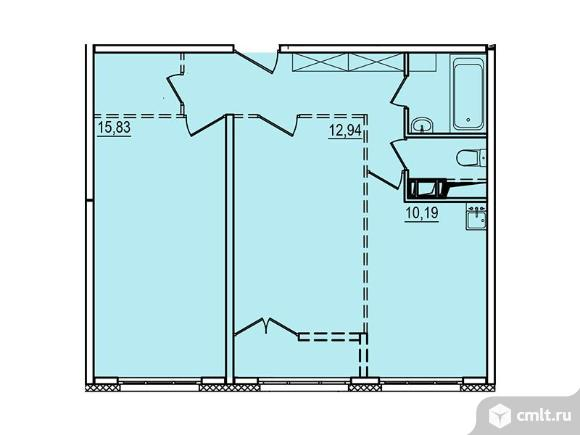 2-комнатная квартира 55,31 кв.м. Фото 1.