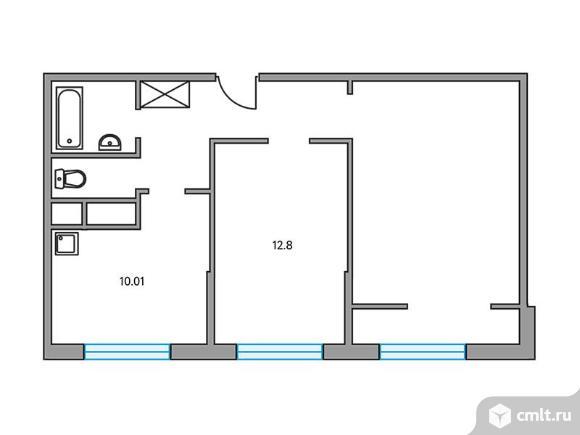 2-комнатная квартира 55,05 кв.м. Фото 1.
