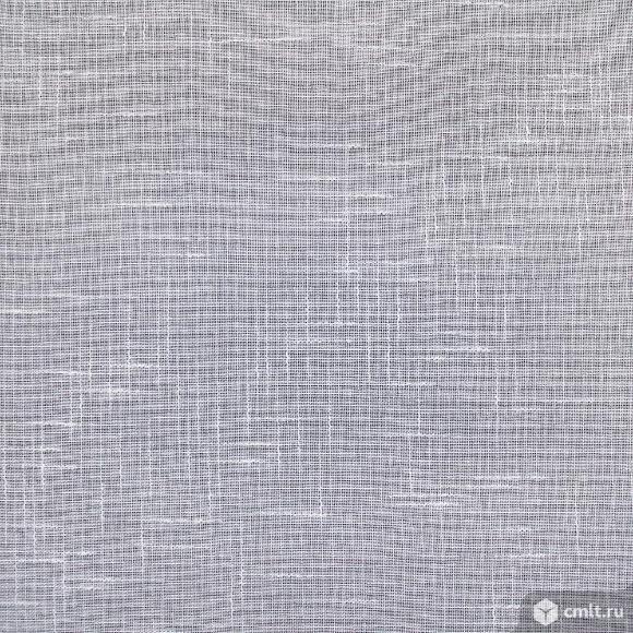 Тюль из белого льна